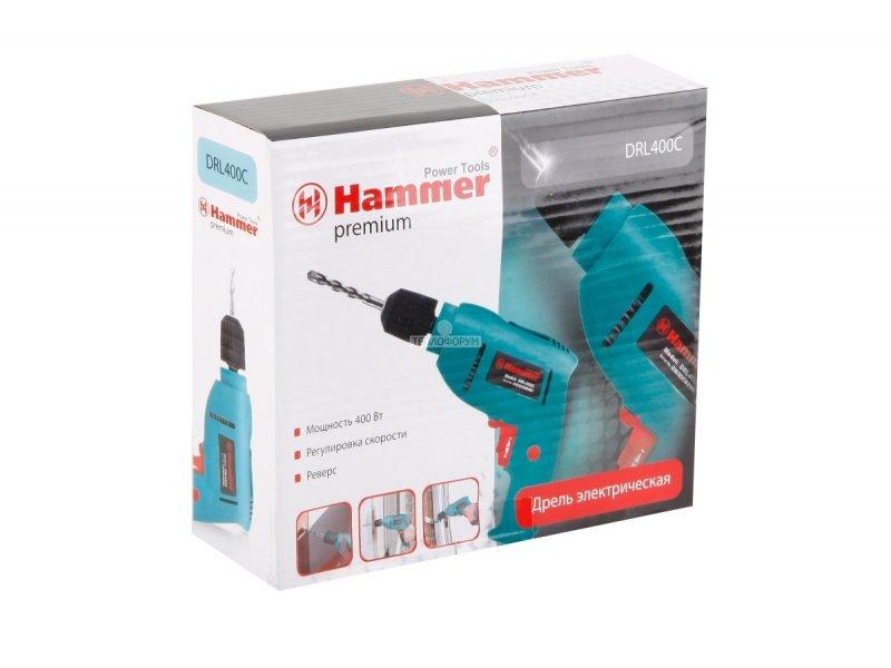 дрель hammer drl400c premium
